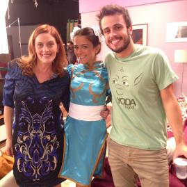Chris Couto, Kathia Calil e Victor Mendes