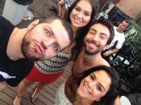 Victor Sarro, Luciana Pandolfo, Rodrigo Pandolfo e Kathia Calil