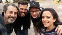 Os atores Ricco Lima, Petrônio Gontijo e Kathia Calil